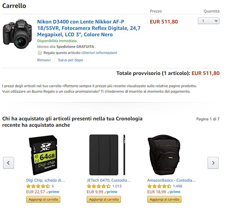 Cross selling in Amazon